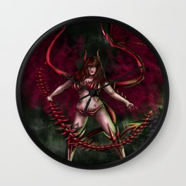 Lilith the Succubus Wall Clock
