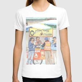 Bangkok Sidewalk Coffee Shop T-shirt