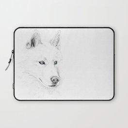 Saber :: A Siberian Husky Laptop Sleeve