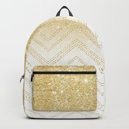 Modern gold ombre chevron stitch pattern Backpack