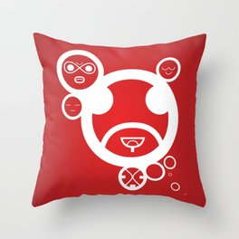 RED - Type Face Throw Pillow