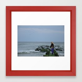 Across the Sea Framed Art Print