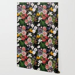 Vintage & Shabby Chic - Lush baroque flower pattern Wallpaper