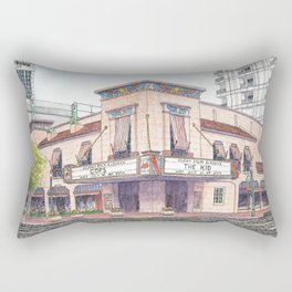 Boise Egyptian Theater Watercolor Painting Rectangular Pillow
