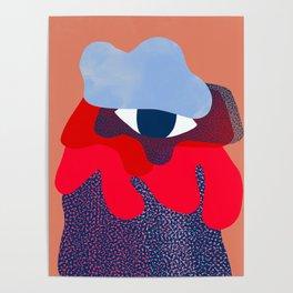 Abstract Illustration Portrait - Limited Palette Portrait  Poster