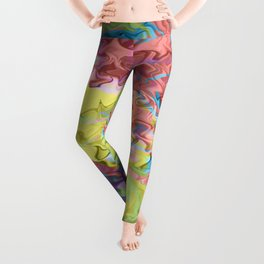 Lost in Thought; Fluid Abstract 56 Leggings