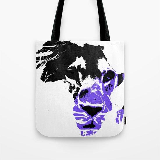Africa Lion : Purple Tote Bag