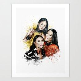 Balmain Girls Art Print