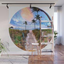 Tropical Sunrise Wall Mural
