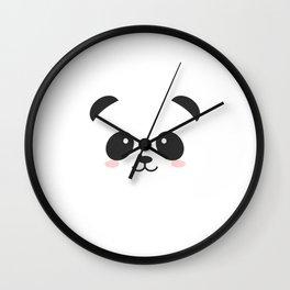 black and white panda Wall Clock