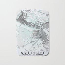 Abu Dhabi, United Arab Emirates, White, City, Map Bath Mat