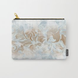 Watercolour in Blue Gold Carry-All Pouch
