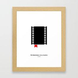Literary Adaptation Film Genre Icon Framed Art Print