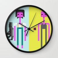 ripley Wall Clocks featuring ALIEN(S)³ - Ellen Ripley Icons by Omar Rodriguez-Rodriguez