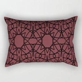 Antic Flower Pattern Rectangular Pillow