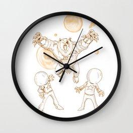 Space Bear Bronze Wall Clock