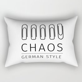 Chaos: German Style Rectangular Pillow