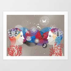 Twins Art Dream Art Print