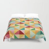 candy Duvet Covers featuring Candy by According to Panda