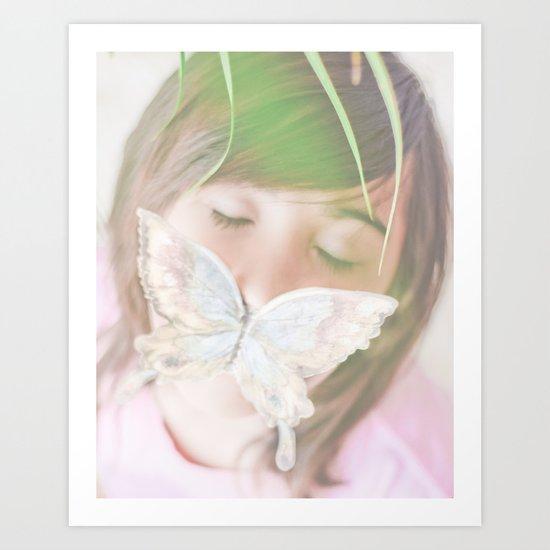 Butterfly love Art Print