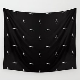 White Studs on Black Wall Tapestry