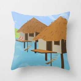 Hut hut Throw Pillow