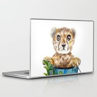cheetah Laptop & iPad Skins featuring cheetah by Anna Shell