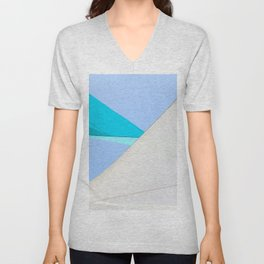 Abstract Sailcloth c1 Unisex V-Neck