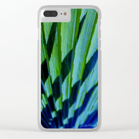 Palm Shadows Clear iPhone Case