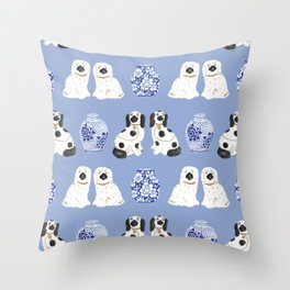Staffordshire Dogs + Ginger Jars No. 1 Throw Pillow