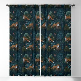 Forest Foxes Blackout Curtain