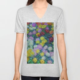 "Claude Monet ""Chrysanthemums"", 1897 Unisex V-Neck"
