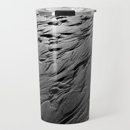 Black and white beach patterns Travel Mug