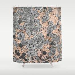 Lichen on granite = Natural abstract art Shower Curtain
