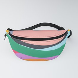 Shapes and Layers no.26 - Modern Abstract Flowers Fanny Pack