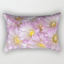 Soft Cactus Blossoms, Desert Floral Art by Murray Bolesta Rectangular Pillow