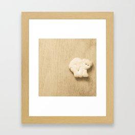 Animal Cracker - wood3 Framed Art Print