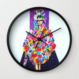 Romance On The Runway - Full Length Wall Clock