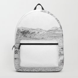 Vintage Desert Scape B&W // Cactus Nature Summer Sun Landscape Black and White Photography Backpack