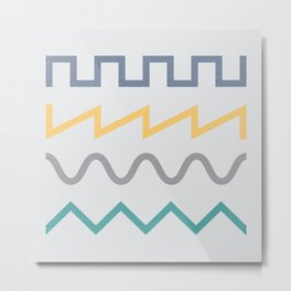 Waveform Metal Print