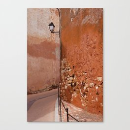 Roussillon Village Street in France Canvas Print