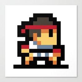 Minimalistic Ryu - Pixel Art Canvas Print