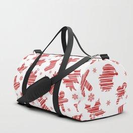 Seamless Christmas pattern Duffle Bag