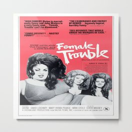 Vintage Female Trouble Movie Poster Metal Print