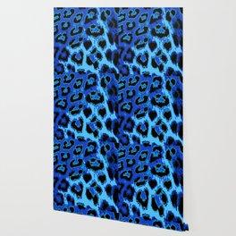 Blue Leopard Spots Wallpaper