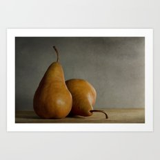 Brown Pears Art Print