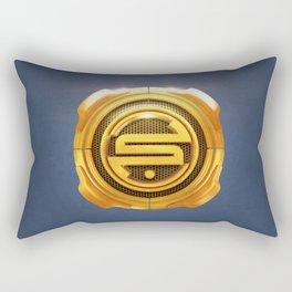 Golden S 3D Emblem Rectangular Pillow