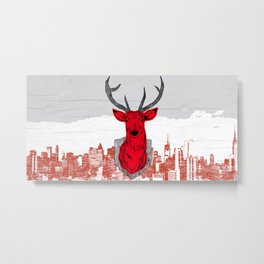 Chasse urbaine Metal Print