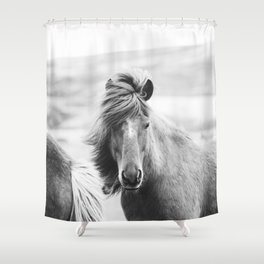 Horse Photograph in Iceland Shower Curtain