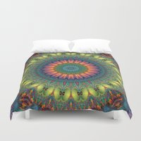 trippy Duvet Covers featuring Trippy by Lyle Hatch